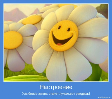 Позитивные картинки-мотиваторы. Ромашки.