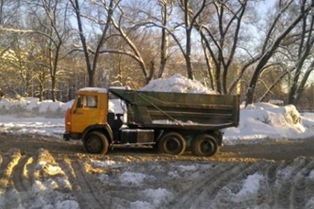 Фото Донецка. В такой самосвал можно загрузить убранный пух :)