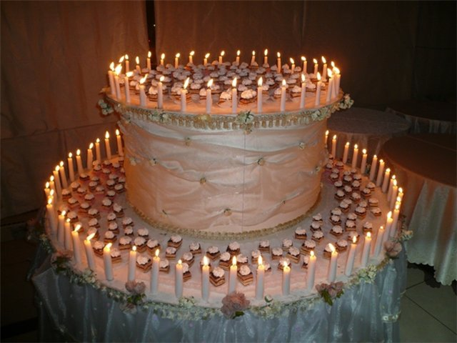 Поздравление с 100-м комментом! Праздничный торт.