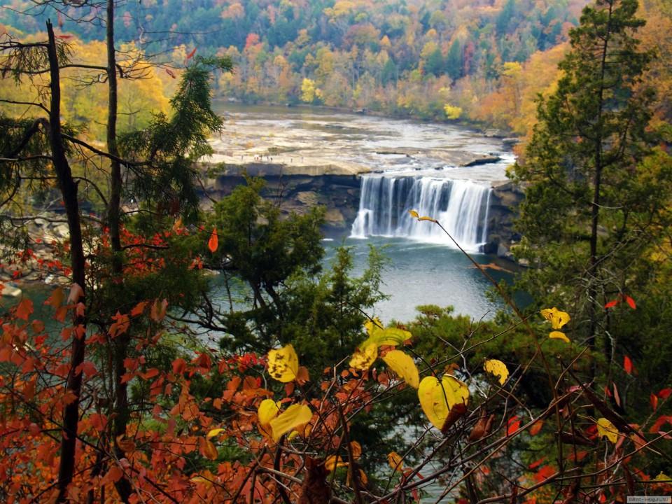 Осень. Красивые фото, водопады.